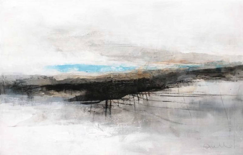 Guardando il cielo LOOKING AT THE SKY : The Works  of Sergio Aiello contemporary visual artist of Abstract Contemporary Landscape Paintings at https://www.sergioaiello.com